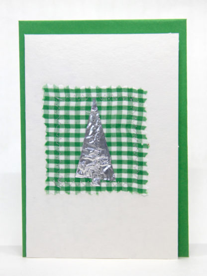 A handmade embroidered greeting card especially for Christmas